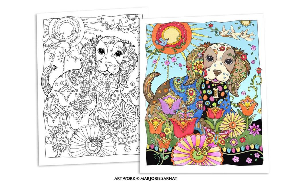 Dazzling Dogs Adult Coloring Book Adult Coloring Worldwide