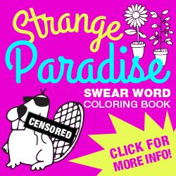strange paradise swear word adult coloring book