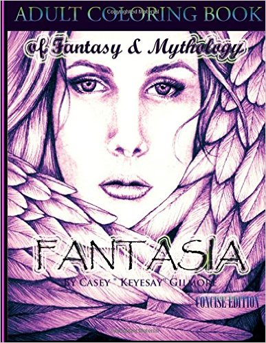 Casey Gilmore Fantasia adult coloring book