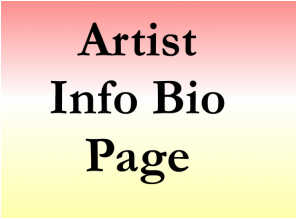 Artist biography advertising listing