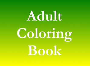 Adult coloring book listing business advertising