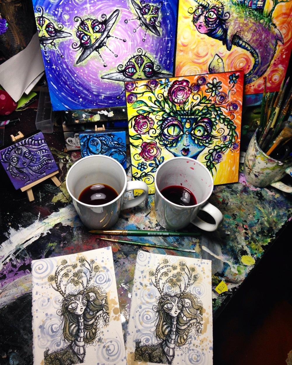 Chelsea Rose Arts Forest Spirit Tea Staining Coloring Art
