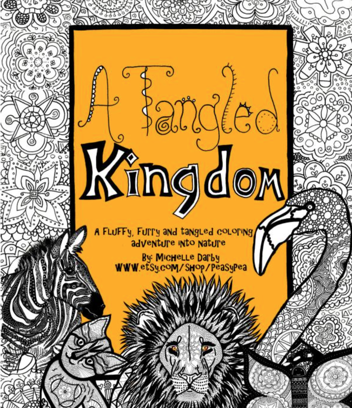 A tankgled kingdom michelle darby adult coloring book