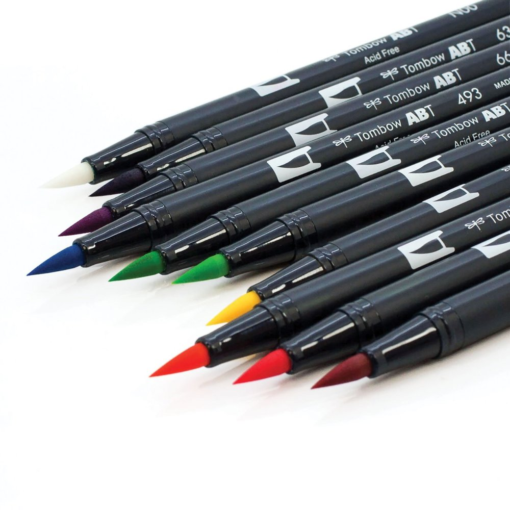 Tombow Dual brush watercolor marker pens