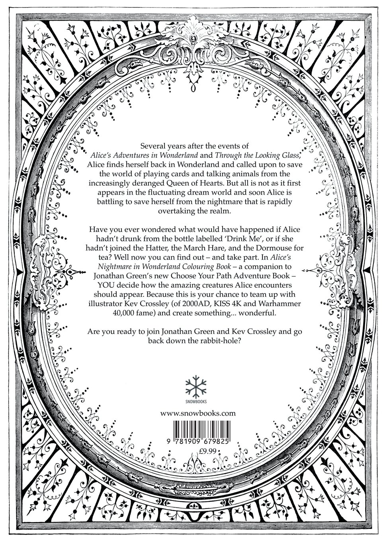 Alice's Nightmare in Wonderland Adult Colouring Book