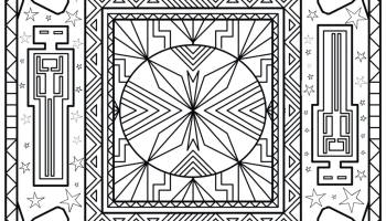 Free Coloring Page From Shamans Book