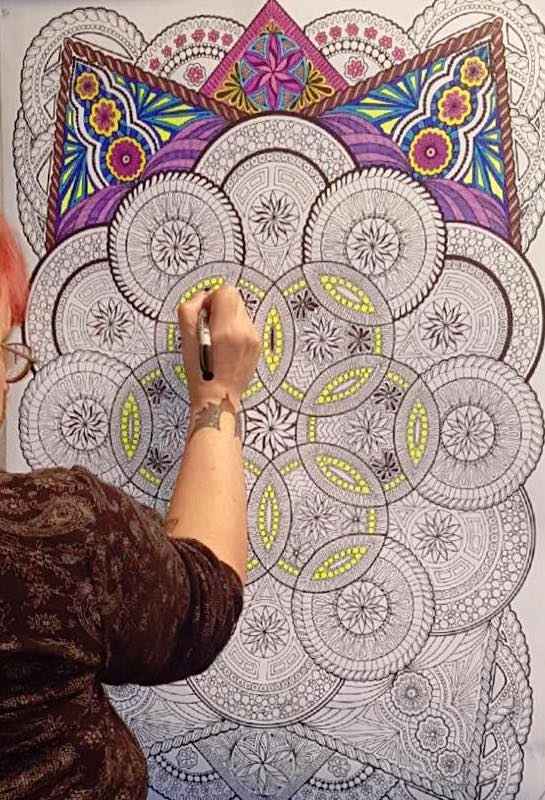 #angelacolorz Giant Mandala Poster Art by Stuff2Color