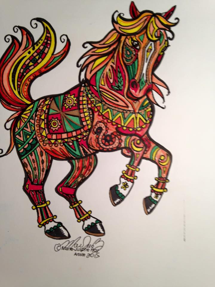 Art and Coloring by Marie-Justine Roy lineart illustrator and artist.