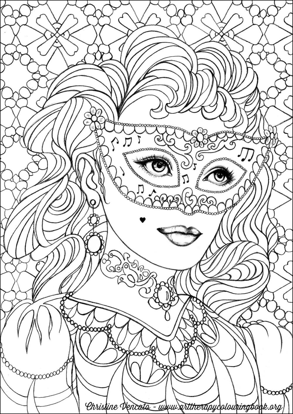 Free Coloring Page From Adult Coloring Worldwide. Art by Christine Vencato