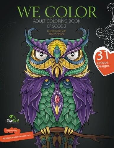 Dicebird We Color Adult Coloring Book Paperback