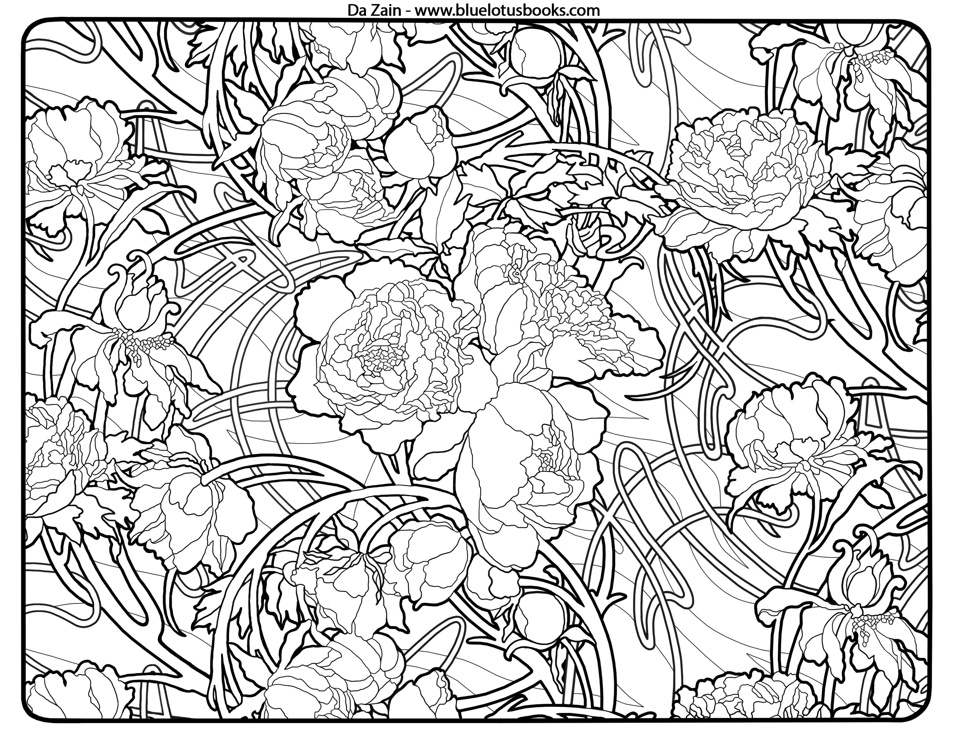 art nouveau coloring pages free free printable art deco coloring ... - Art Nouveau Unicorn Coloring Pages