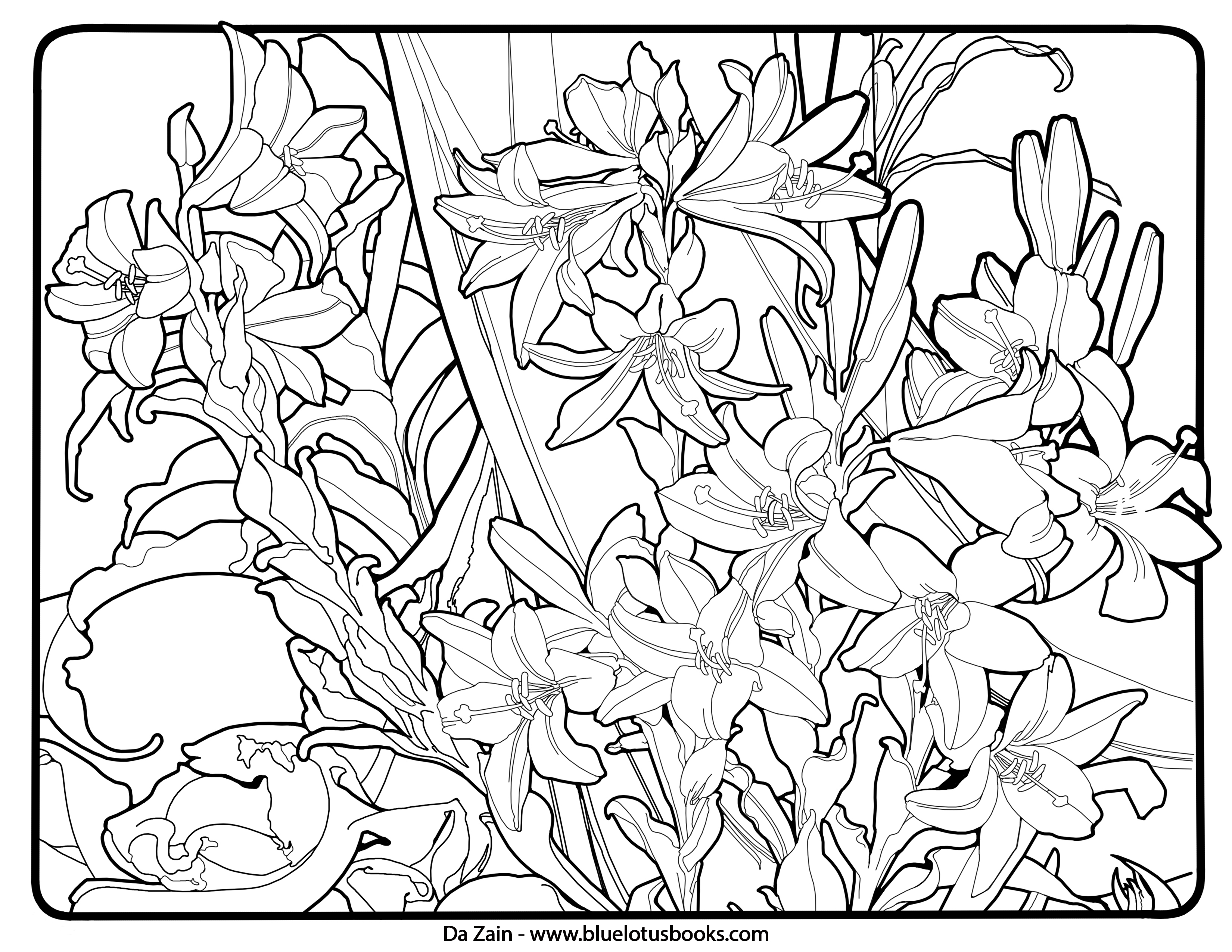 Alfons Mucha Art Nouveau Free Adult Coloring Pages – Adult
