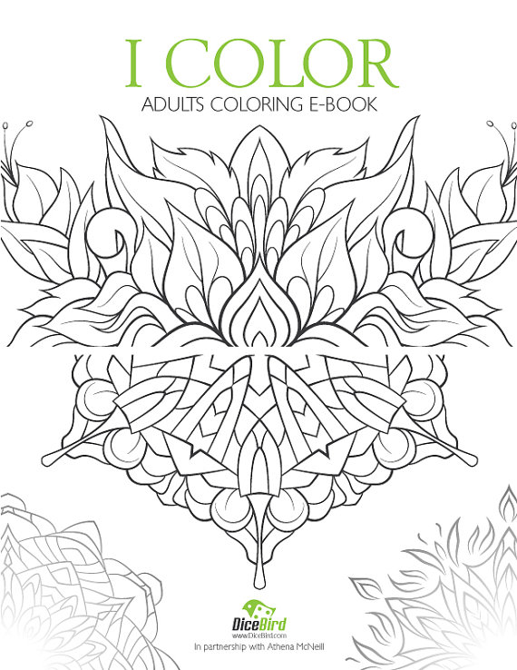 Dicebird iColor Adult Coloring Book Mandala