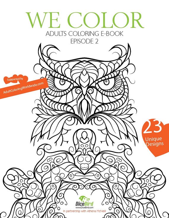 Dicebird We Color Adult Coloring Book Mandala