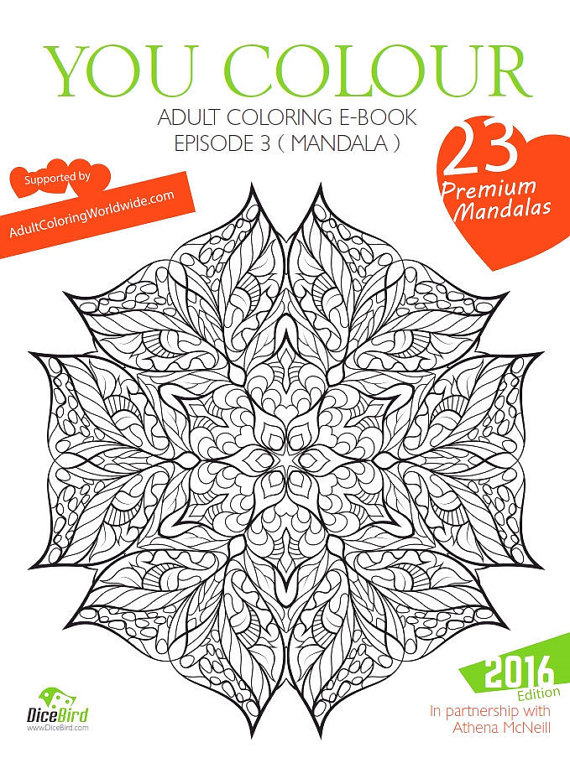 Dicebird You Color Adult Coloring Book Mandala