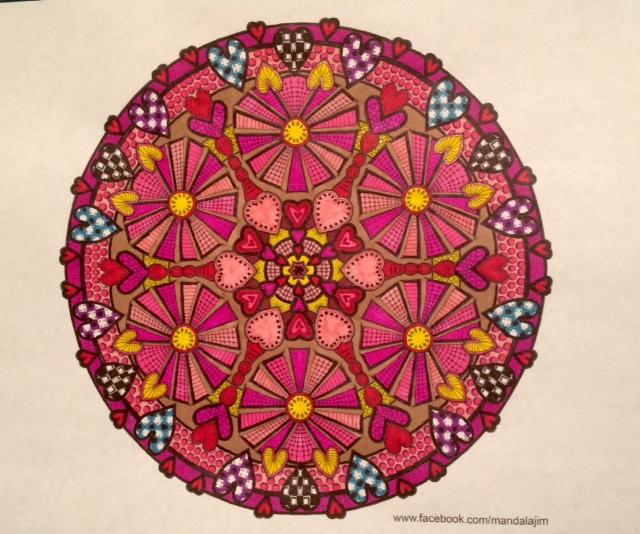 #angelacolorz Art by Mandala Jim using Sharpie Markers
