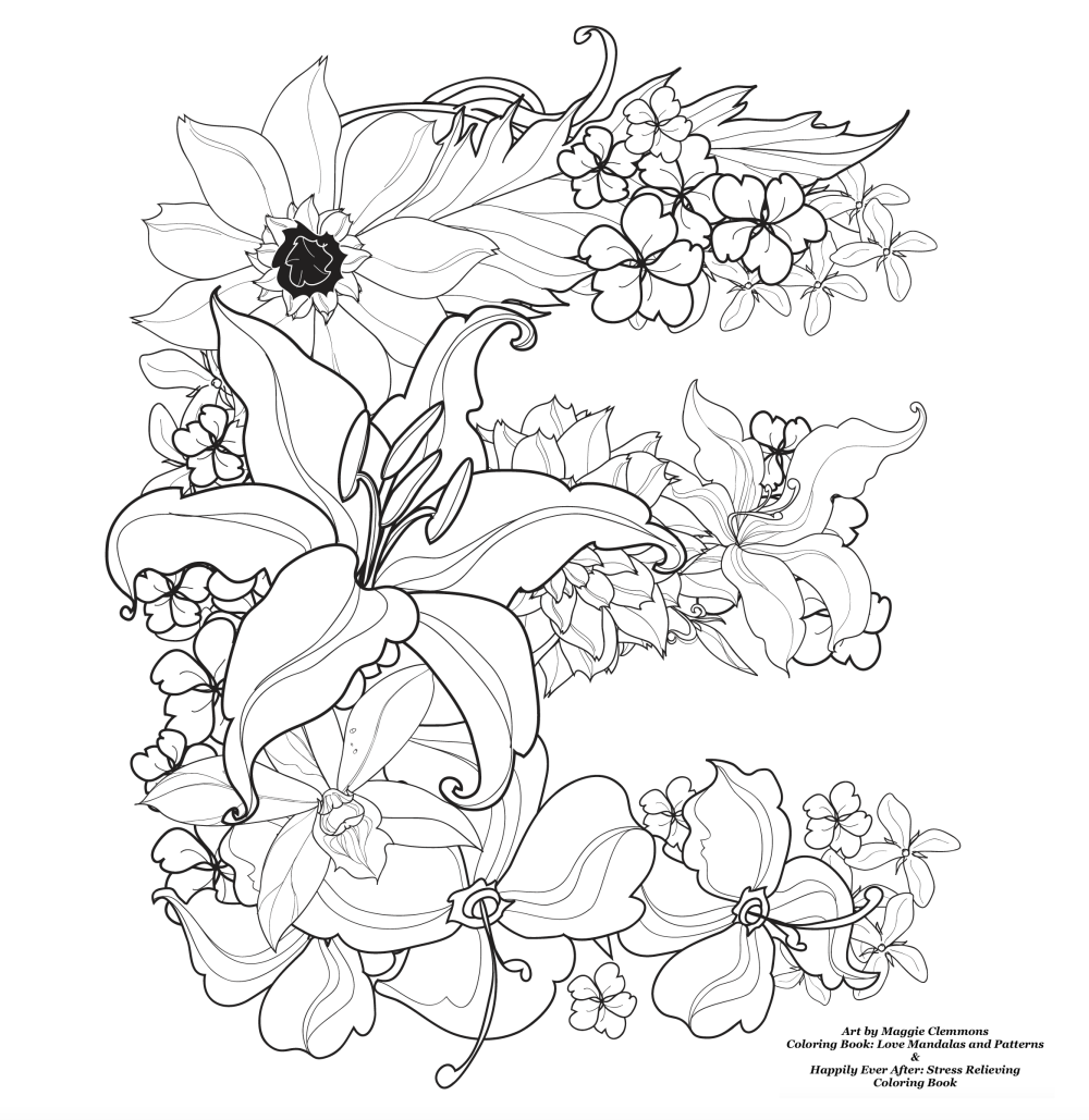 Free coloring pages from Adult Coloring Worldwide Art by Maggie Clemmons Coloring Book: Love Mandalas and Patterns Coloring Book: Happily Ever After