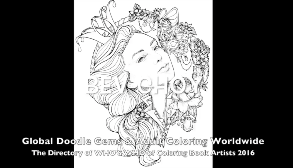 Whos Who of Coloring Book Artists by Global Doodle Gems and Adult Coloring Worldwide