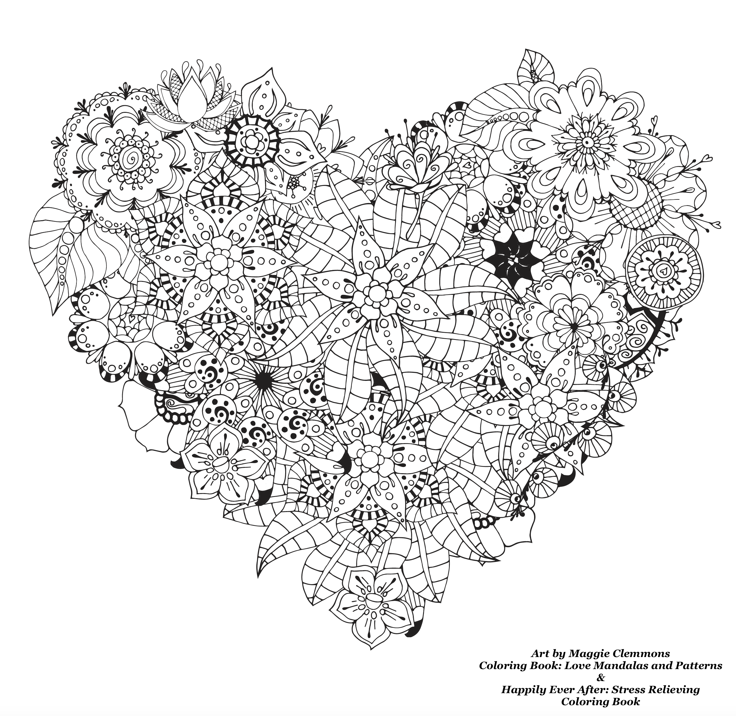 ... Free Coloring Pages From Adult Coloring Worldwide Art By Maggie  Clemmons Coloring Book: Love Mandalas