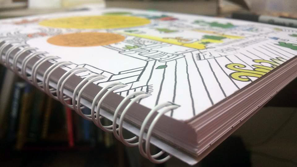 Secret Cities cardstock coloring book for adults by Paul Summerfield