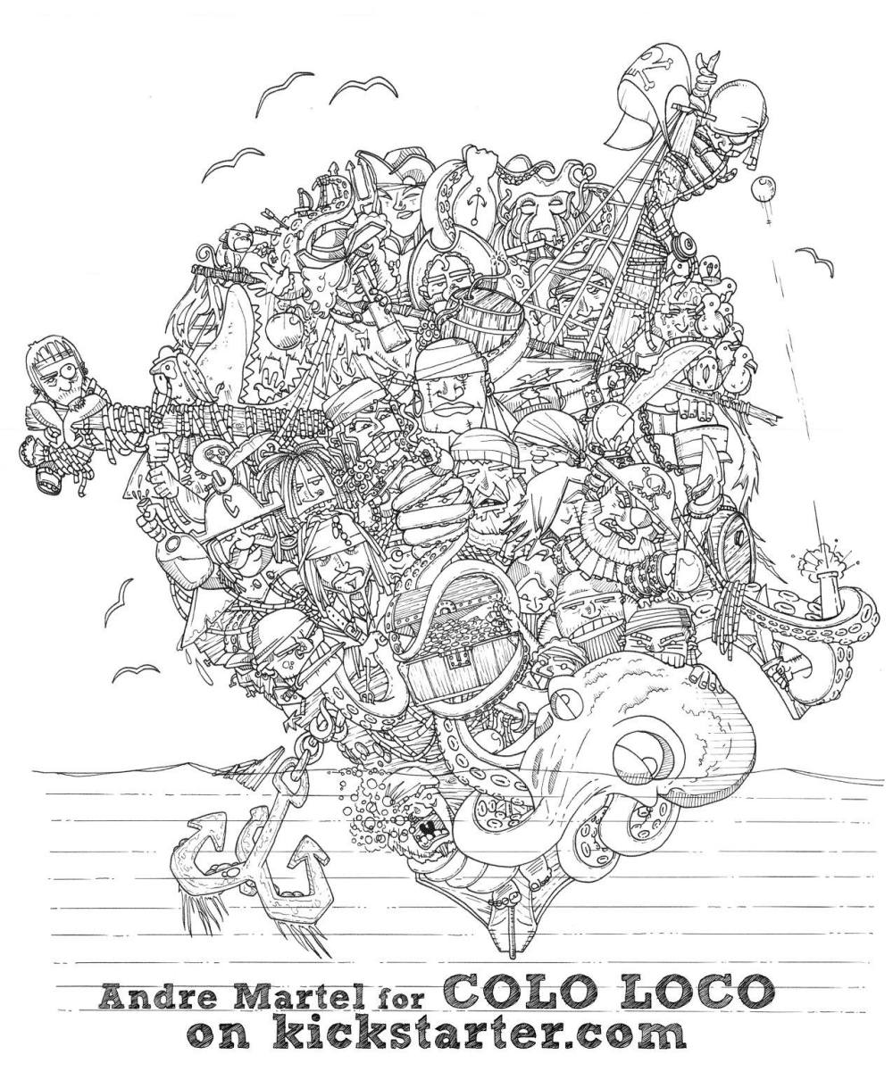doodle pirates free coloring page u2013 coloring worldwide