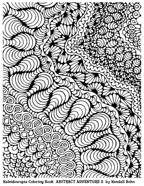 Abstract Adventure XI: A Kaleidoscopia Coloring Book (Volume 11)  by Kendall Bohn free coloring page