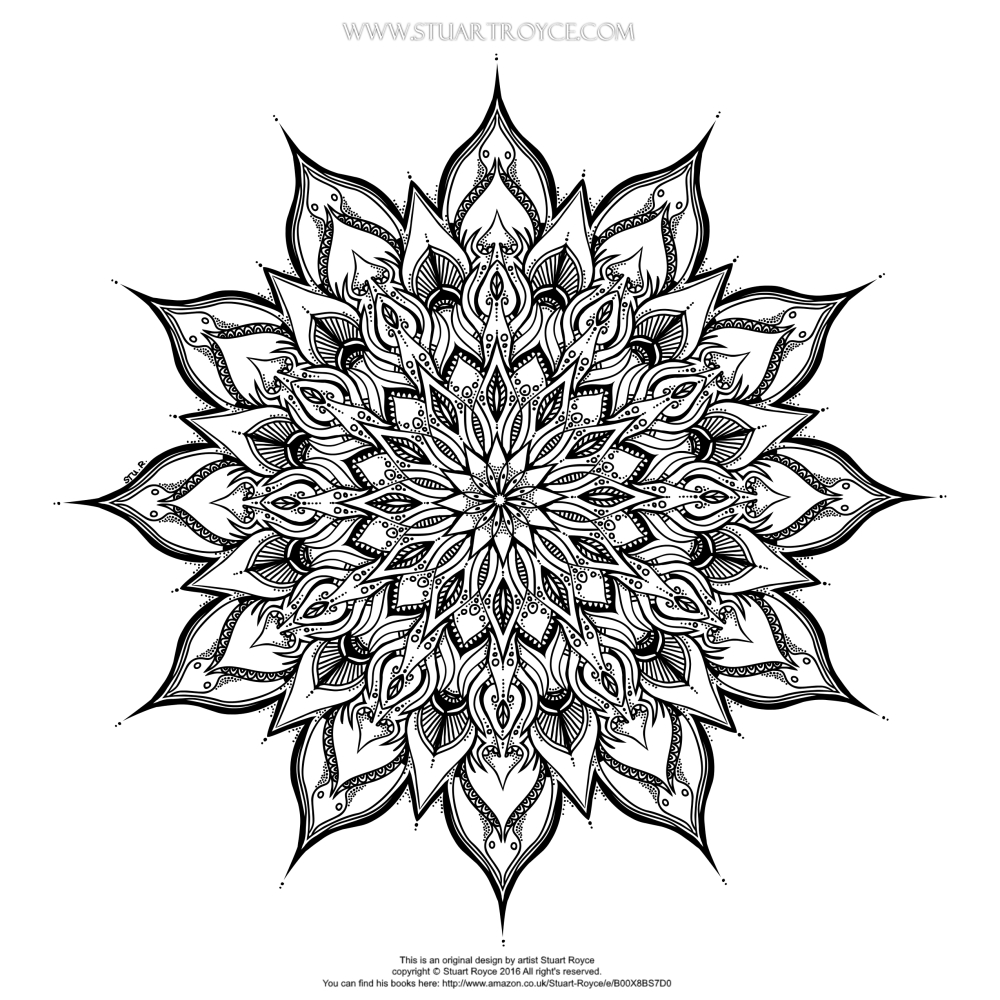 Free Coloring Page by Stuart Royce Artist Illustrator for Eclectica Adult Coloring Books