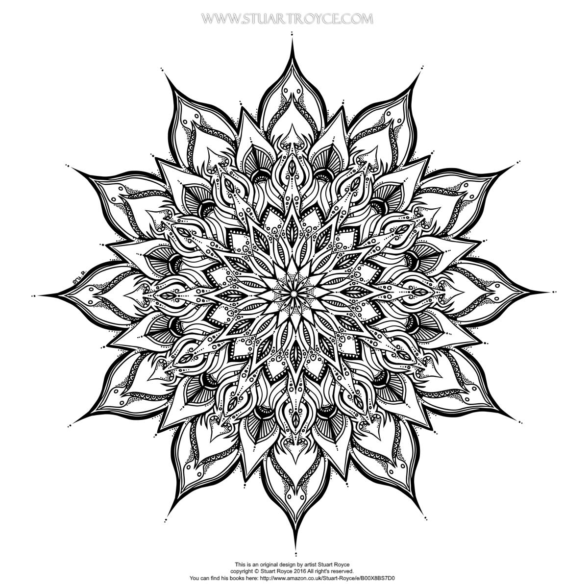 Mandala Sunday Funday With Stuart Royce – Adult Coloring ...