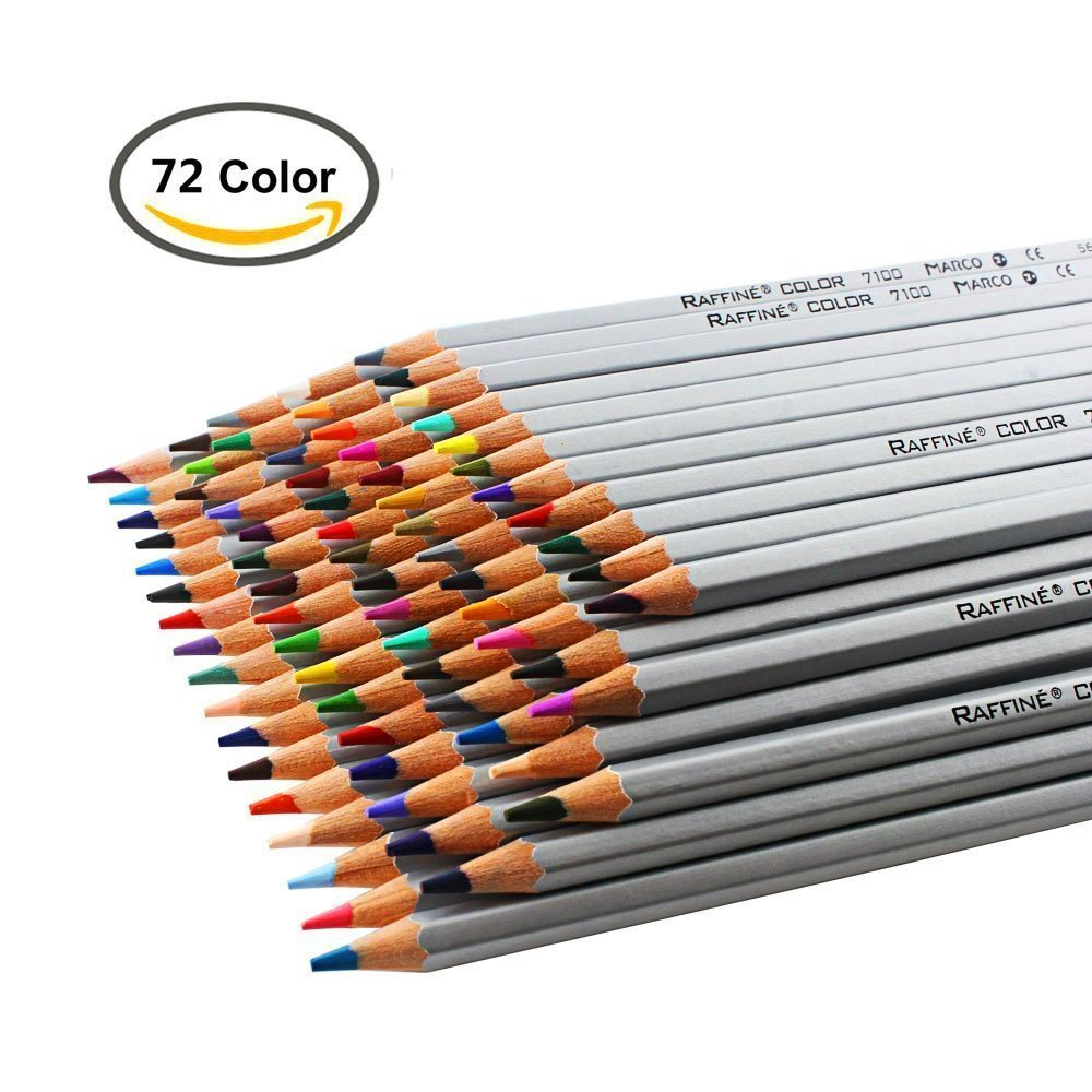 72 pencils for colouring Raffine Marco Fine Art Colored Pencils/ Drawing Pencils for adult coloring books