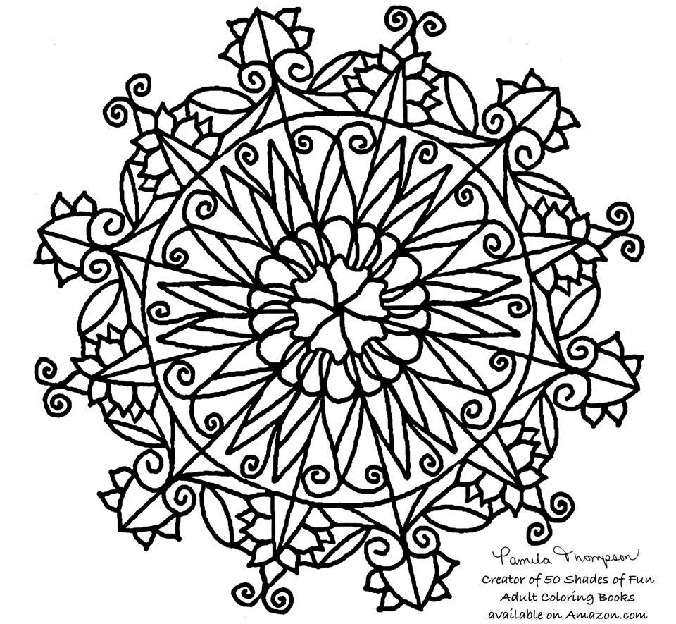 Free Coloring Pages Mandala by Pamela Thompson