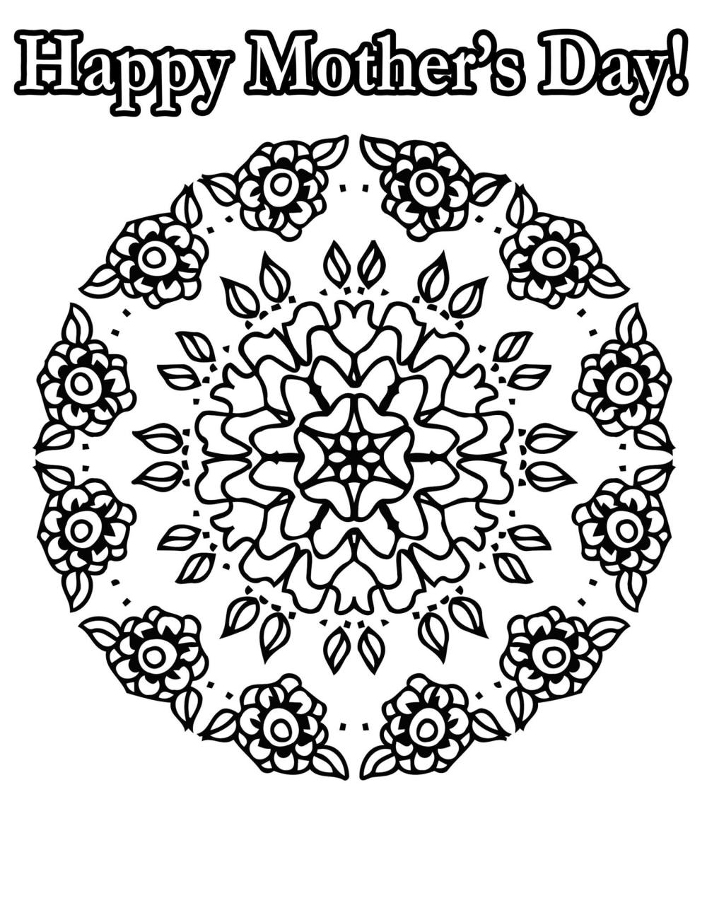 free coloring pages for mothers day u2013 coloring worldwide