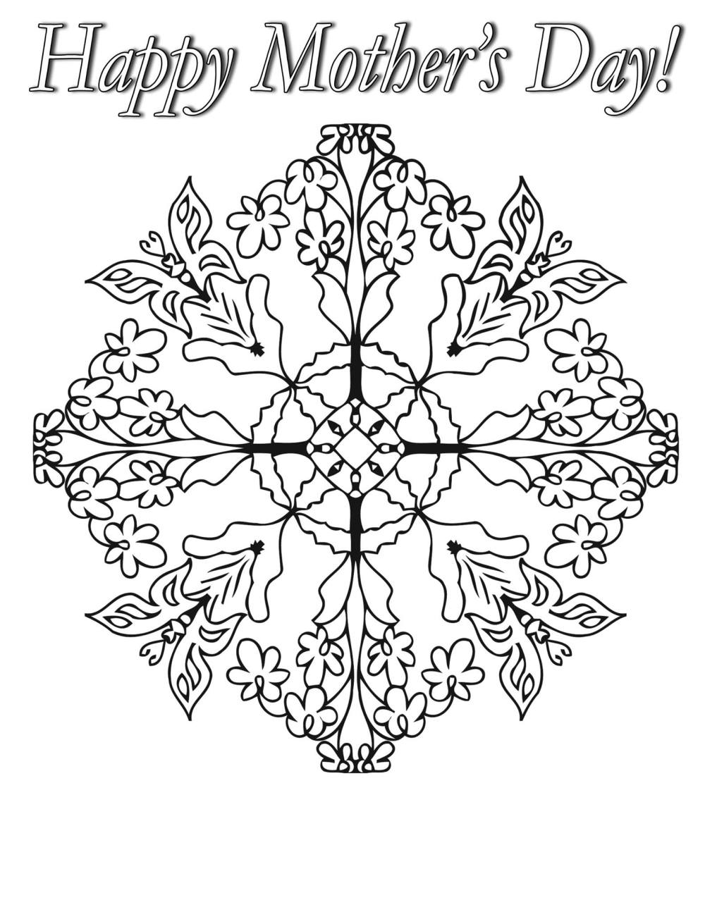 mothers day coloring pages for adults Free Coloring Pages For Mothers Day – Adult Coloring Worldwide mothers day coloring pages for adults