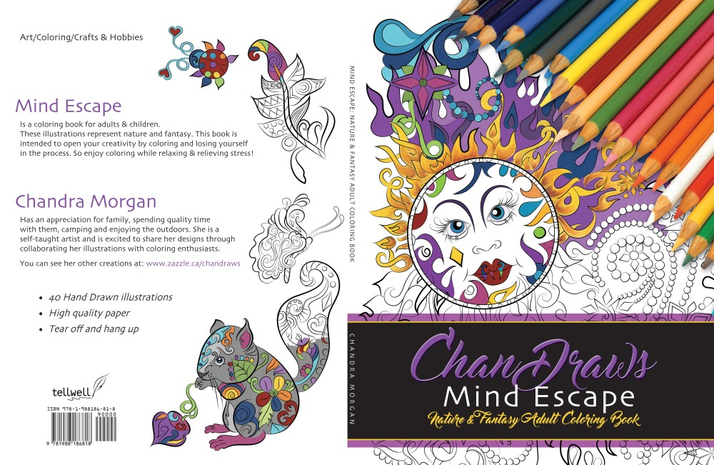 ChanDraws Mind Escape: Nature & Fantasy Adult Coloring Book (chandraws mind escape adult coloring book) by Chandra Morgan