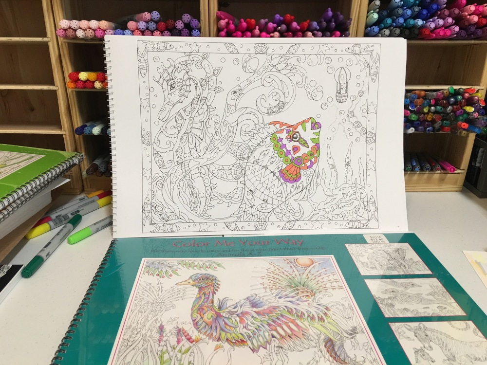 Color Me Your Way Spiral-bound adult coloring books by Pamela Smart