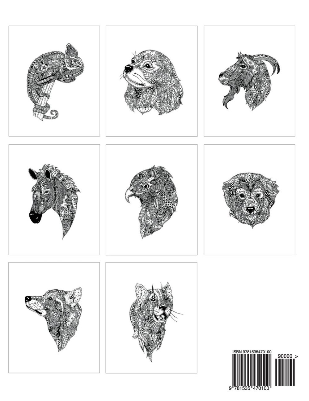 Doodle Animals adult coloring book of animals by Matt White