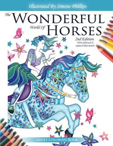 Wonderful And Magical Horses Coloring Books By Simone