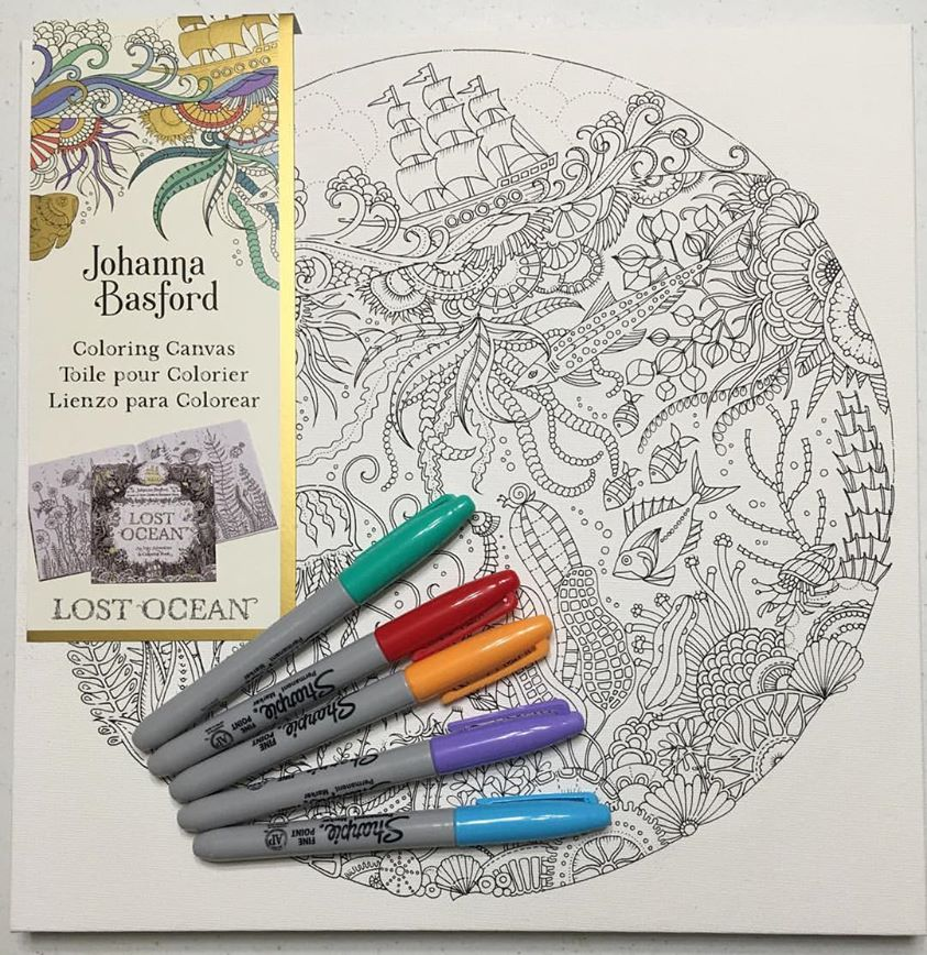 Johanna Basford Adult Coloring Canvas Adult Coloring