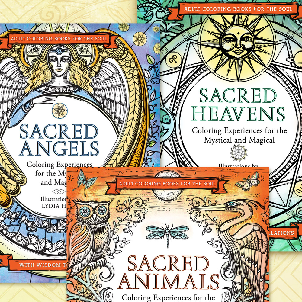Sacred Adult Coloring Book Series by Artist Lydia Hess