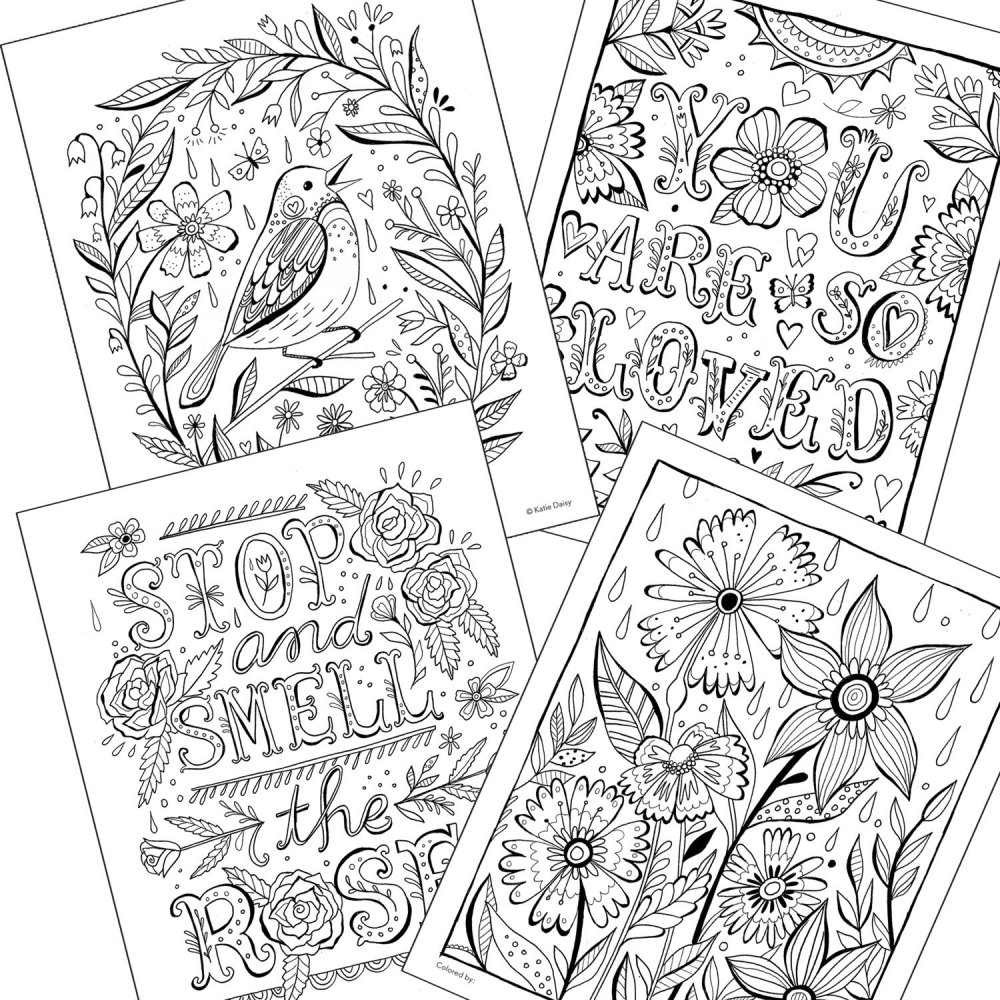 Create Magic Adult Coloring Book by Katie Daisy for Adults and Kids at Heart