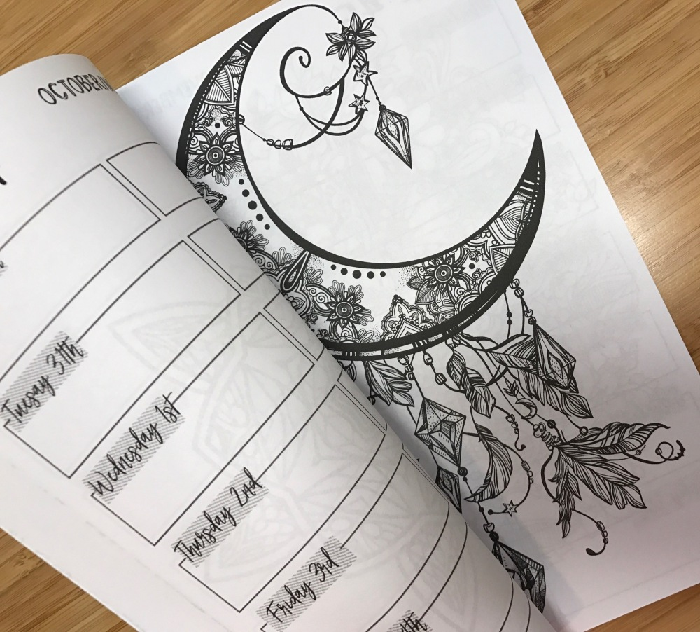 2017 Color Me Weekly Coloring Planner