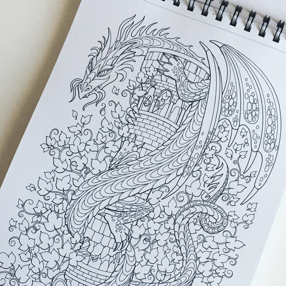 Wondrous Curiosities Adult Coloring Book By Artsy Tales