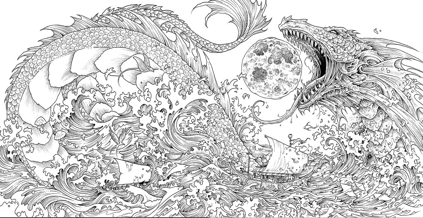 Once Upon A Time Mythomorpia Happened Kerby Rosanes Creates Beautiful  Fantasy Coloring Book – Adult Coloring Worldwide