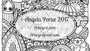 Amazon.com: Angela Porter's Zen Doodle Animal Tangles: New ...   175x306